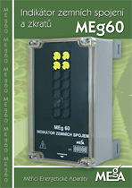 Indikátor zemních spojení a zkratů MEg60